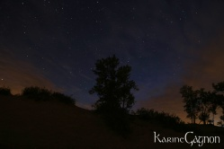 The night sky above Sandbanks National Park, Prince Edward County, Ontario