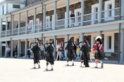 Pipers playing in the citadelle