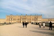 The rear façade of Versailles