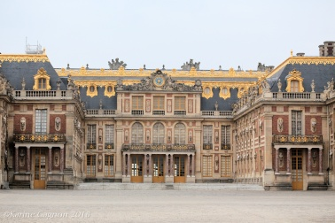 The main façade of Versailles