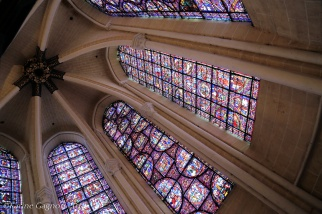 Stained glass windows in Chartres Cathedral