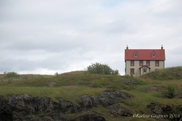 A lone house on a hill in the town of Trinity