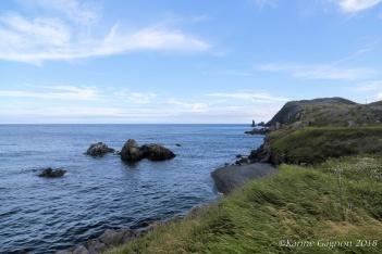 The coastline seen from the lighthouse near Trinity