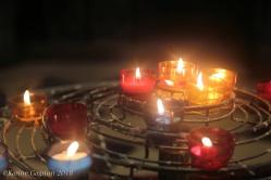 Votive candles at Notre-Dame-de-Paris