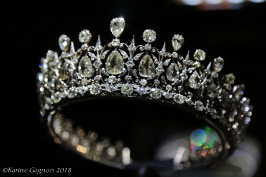 The Fife tiara on display at Kensington Palace