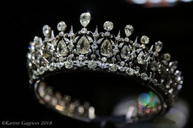 The Fife tiara on display at Kensington Palace