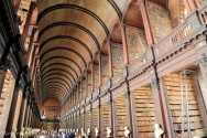 Trinity College library, in Dublin