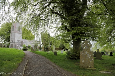 The tiny church and graveyard at the Hill of Tara