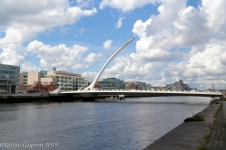 Samuel Beckett Bridge in Dublin's Docklands district