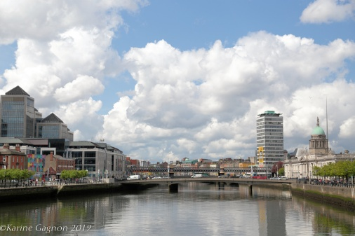 Dublin Docklands seen from Samuel Beckett Bridge